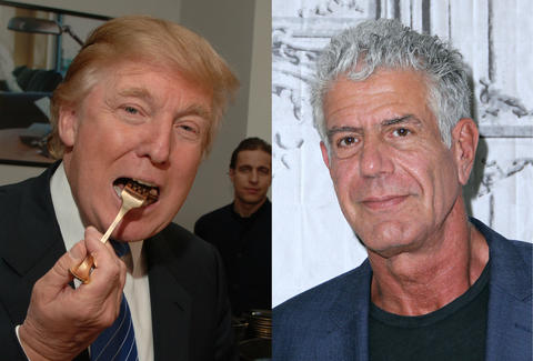 anthony bourdain, donald trump