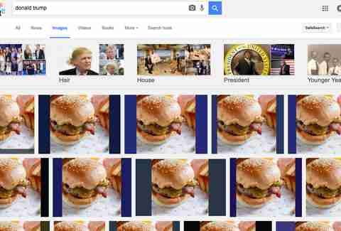Donald Trump is a burger