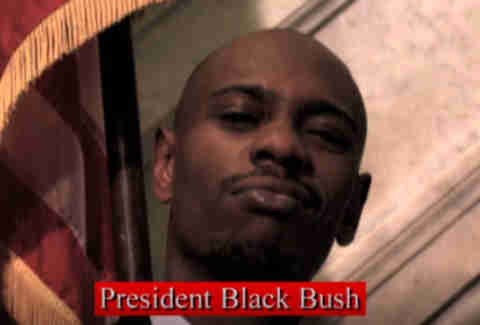 dave chappelle as black bush on comedy central chappelle's show