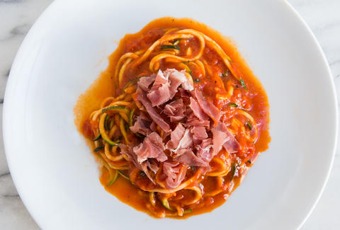 zoodles in tomato sauce