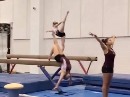 gymnast mannequin challenge