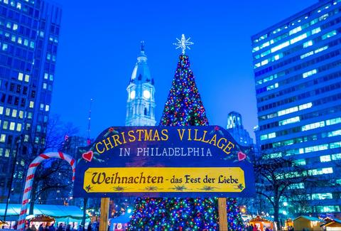 Christmas village philly