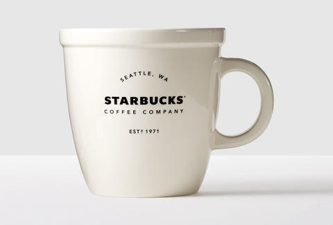 Starbucks 138 Ounce Giant Abbey Coffee Mug For