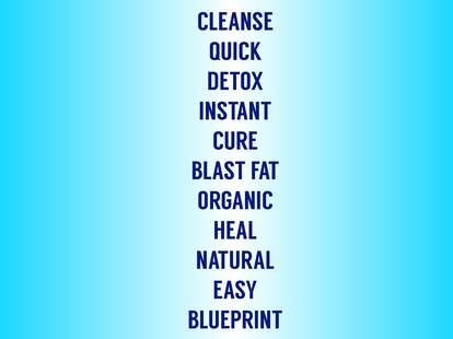 words that mean you're getting bad health advice