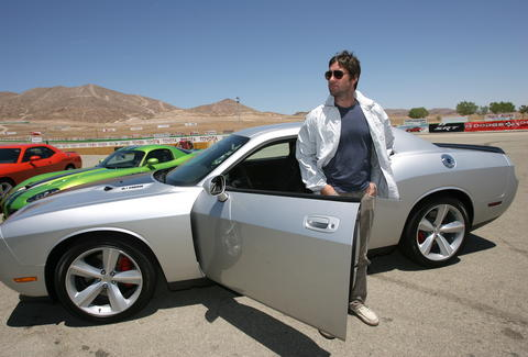 Luke Wilson and a Dodge Challenger