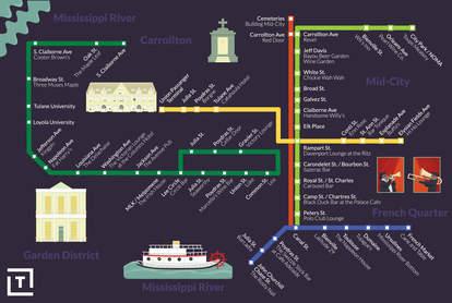 streetcar bar map