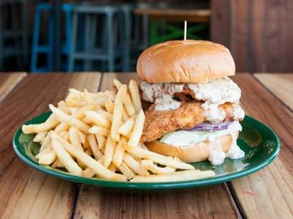 Office Bar and Grill San Carlos burger and fries