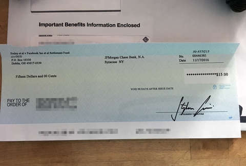 Fraley vs Facebook: Facebook Users Get $15 Checks in Class Action ...