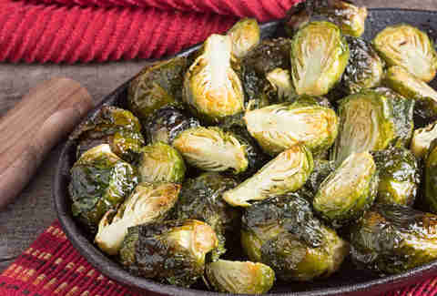 Cast Iron-Roasted Brussels Sprouts