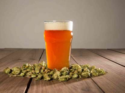 beer with hops