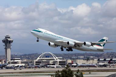 Catahy Pacific plane LAX