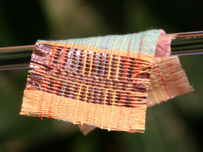 electricity producing fabric
