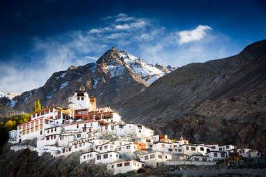 The Buddhist monastery of Diskit in Nubra valley