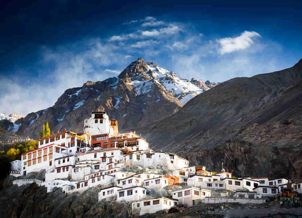The Buddhist monastery of Diskit in Nubra valley