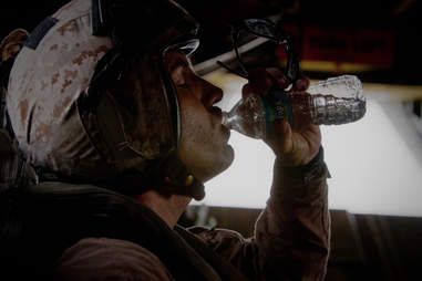 Marines drinking water