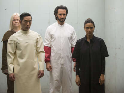 thandie newton and crew on hbo westworld