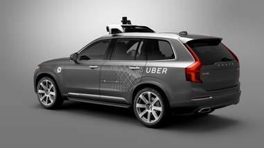 volvo uber autonomous car