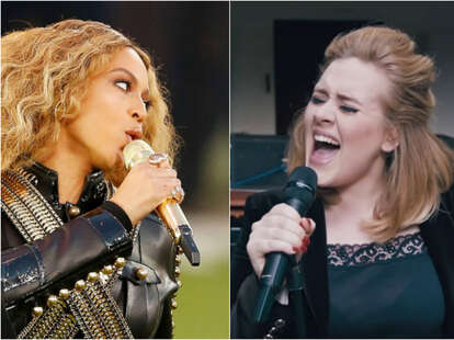 adele beyonce grammy nominations