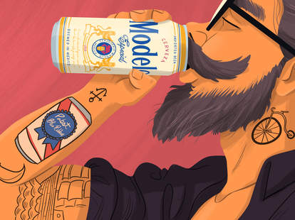 Modelo Hipster Illustration