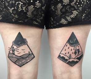 Schwarze Hand Tattoo