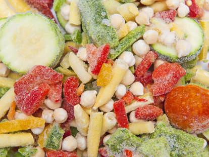 freezer burned frozen vegetables
