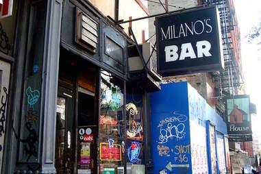 Milano's bar sign