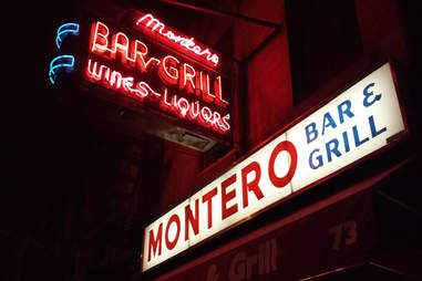 Montero Bar and Grill sign