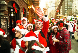 SantaCon Is Coming to New York Today. Here Are the Areas You Should Avoid.