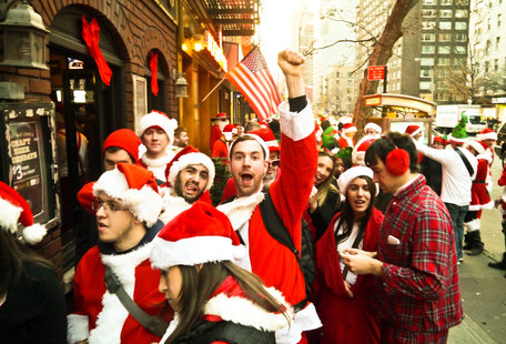 SantaCon Is Coming to New York on Saturday. Here Are the Areas You Should Avoid.