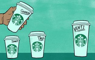 Starbucks Cup Sizes >> Starbucks Cup Sizes: Tall, Venti, Grande, Trenta Drink Sizes Explained - Thrillist