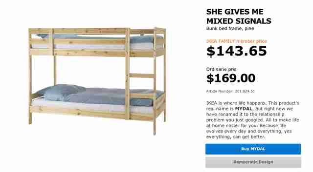 Ikea renames products