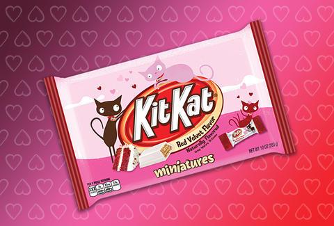 Red Velvet Cake Kit Kat Bar Minis Will Debut After