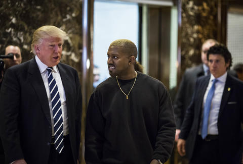 Kanye West and Donald Trump at Trump Tower