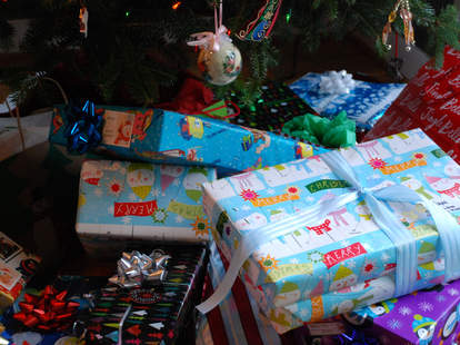 holiday presents wrapping paper