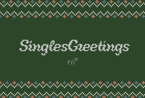 Cross stitch greeting card