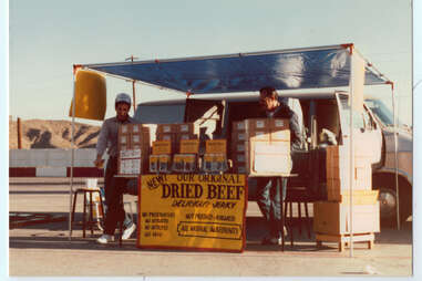 beef jerky stand