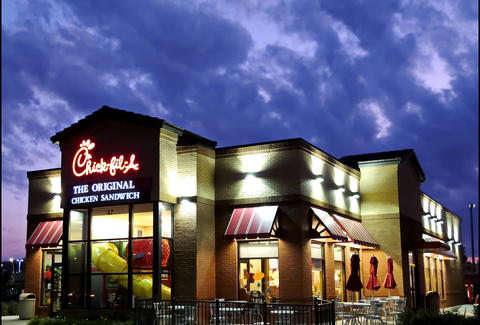 chick fil a at night