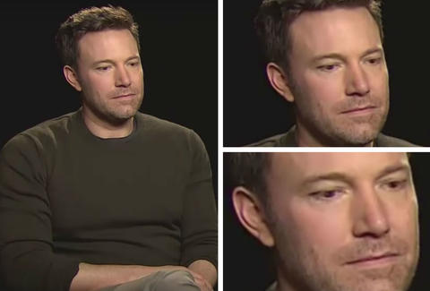sad ben affleck during batman v superman interview