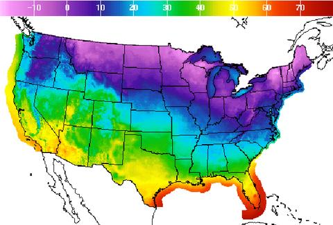 Cold Weather Snap East Coast December 2016