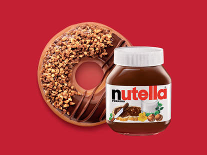 Nutella Krispy Kreme donut
