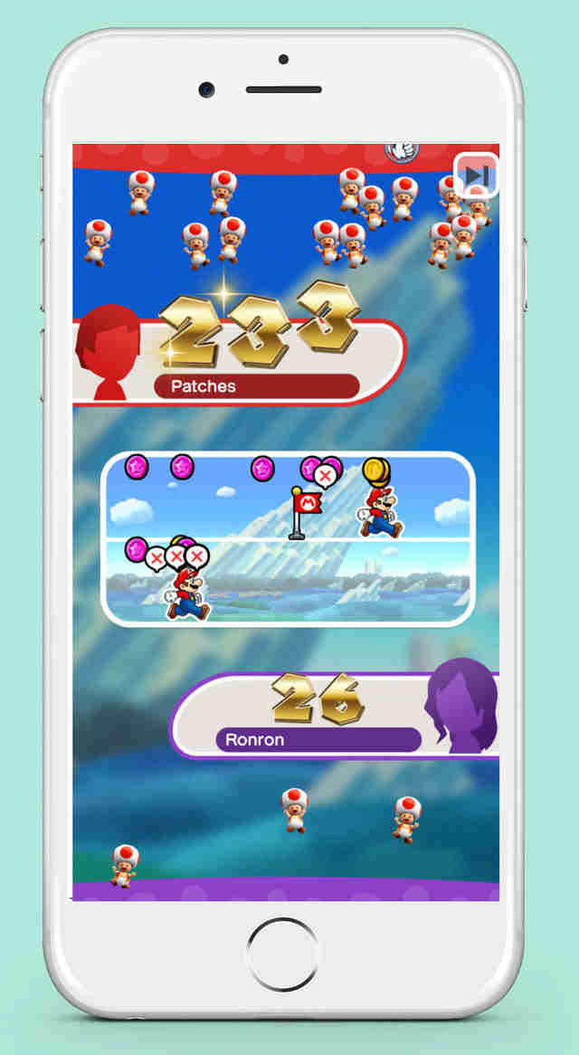 super mario run rally