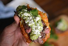Carne Asada Latke Tacos Are the Best Way to Stuff Your Face With Potatoes
