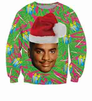 carlton ugly christmas sweater