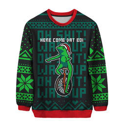 dat boi ugly christmas sweater