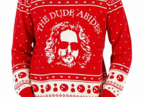 big lebowski ugly christmas sweater