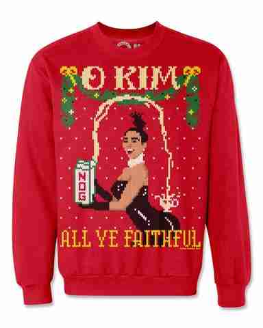 kim kardashian ugly christmas sweater