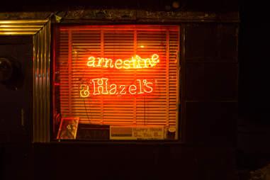 Window Sign Earnestine and Hazel's