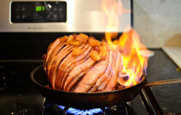 This Flaming Fireball Ham Is What Your Holiday Dinner Is Missing