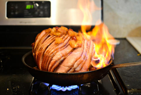 Flaming Fireball Ham