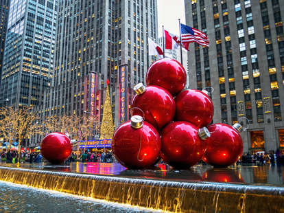 New York christmas travel